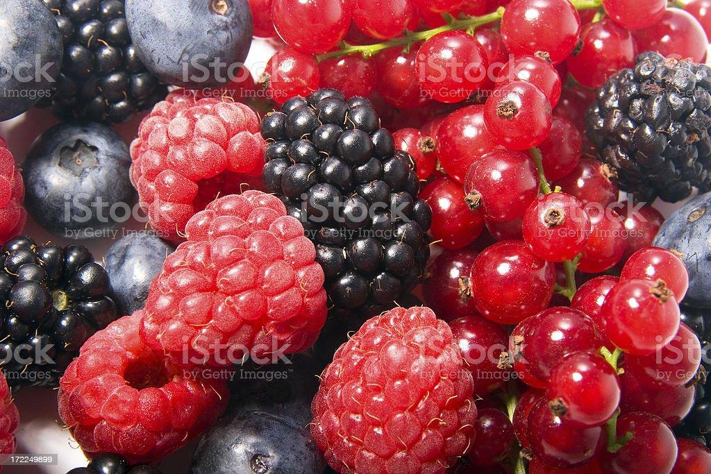 Mixed berries (9) stock photo