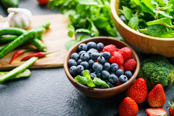 mixed berries - health and beauty stock photos and pictures