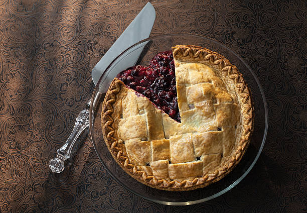 mixed berry pie - blueberry pie stock pictures, royalty-free photos & images