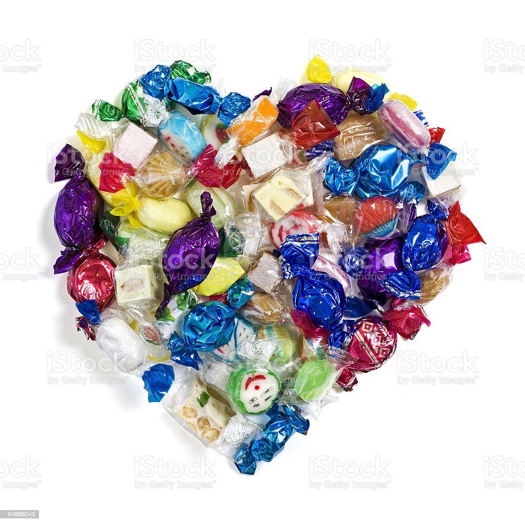 mixed candy heart royalty-free stock photo