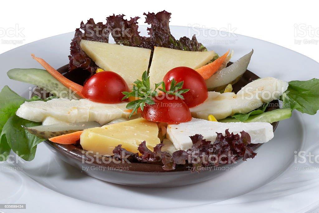 Mixed cheese varieties royalty-free stock photo