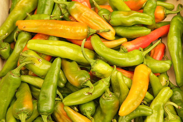 Mixed Chillies stock photo