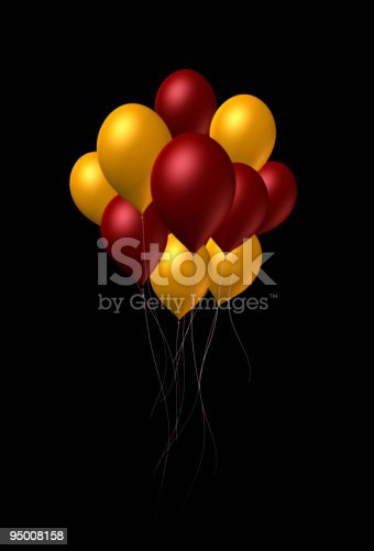 istock Mixed Color Balloons 95008158