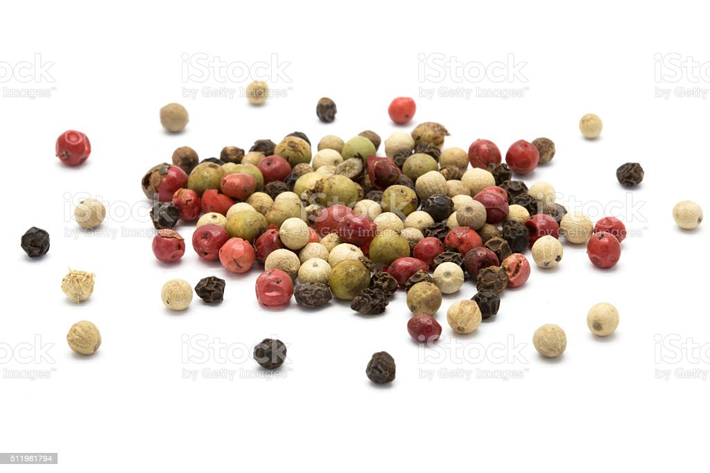 Mixed color pepper stock photo