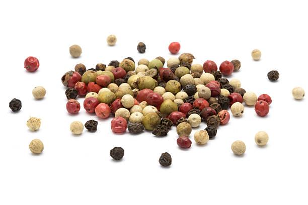 mixed color pepper - tane biber stok fotoğraflar ve resimler