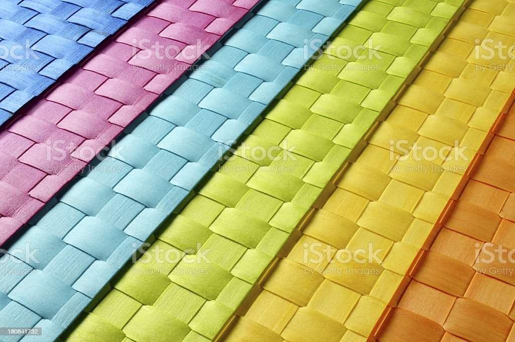 Mixed Color Wicker Backgrounds royalty-free stock photo