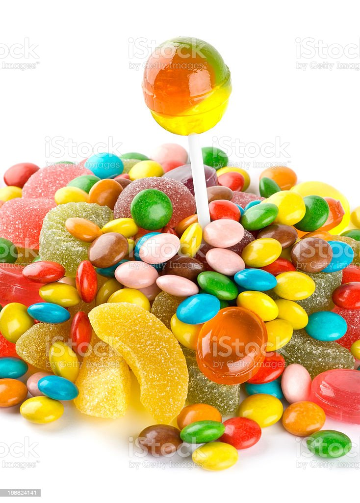 Mixed colorful candies royalty-free stock photo