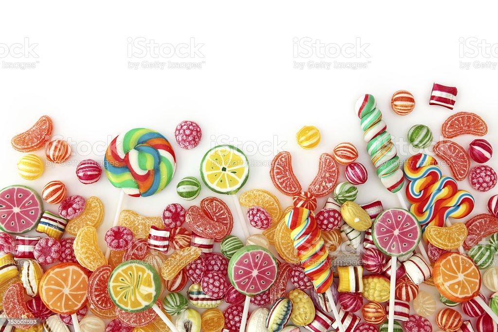 Mixed colorful fruit bonbons stock photo