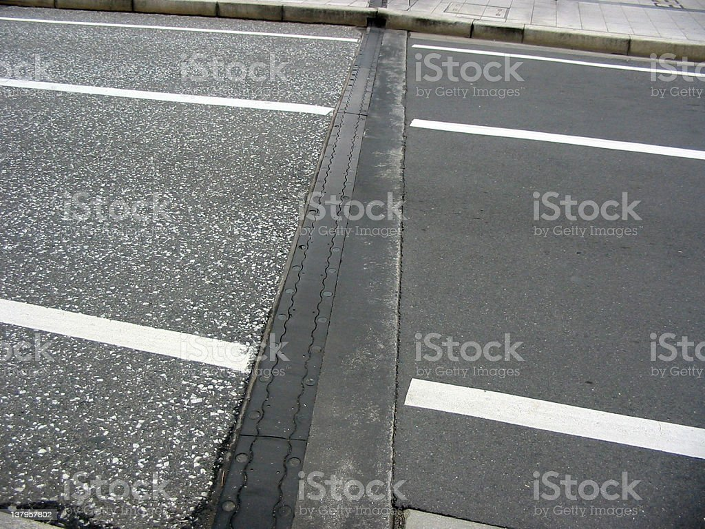 Mixed Concrete Roads royalty-free stock photo