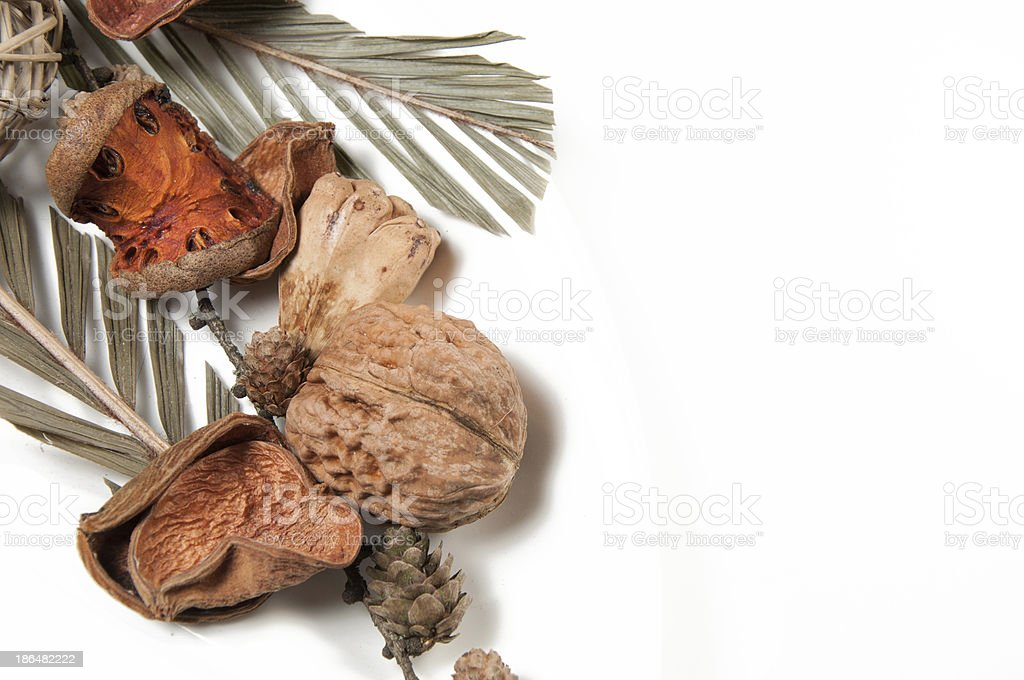 Mixed dried home decoration royalty-free stock photo