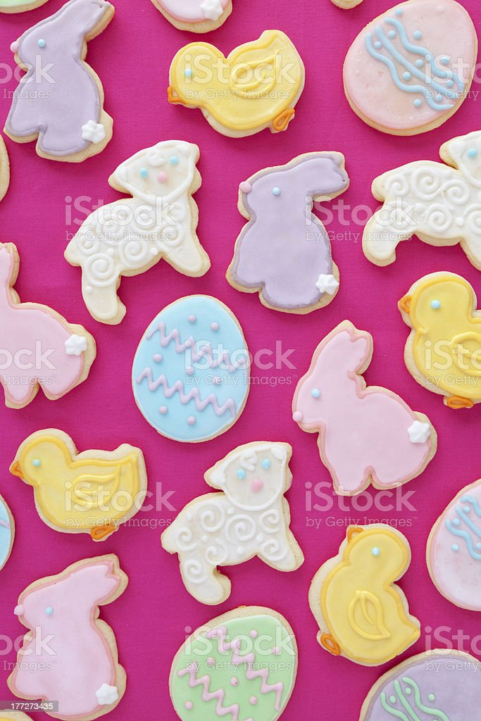 Mixed Easter cookies royalty-free stock photo