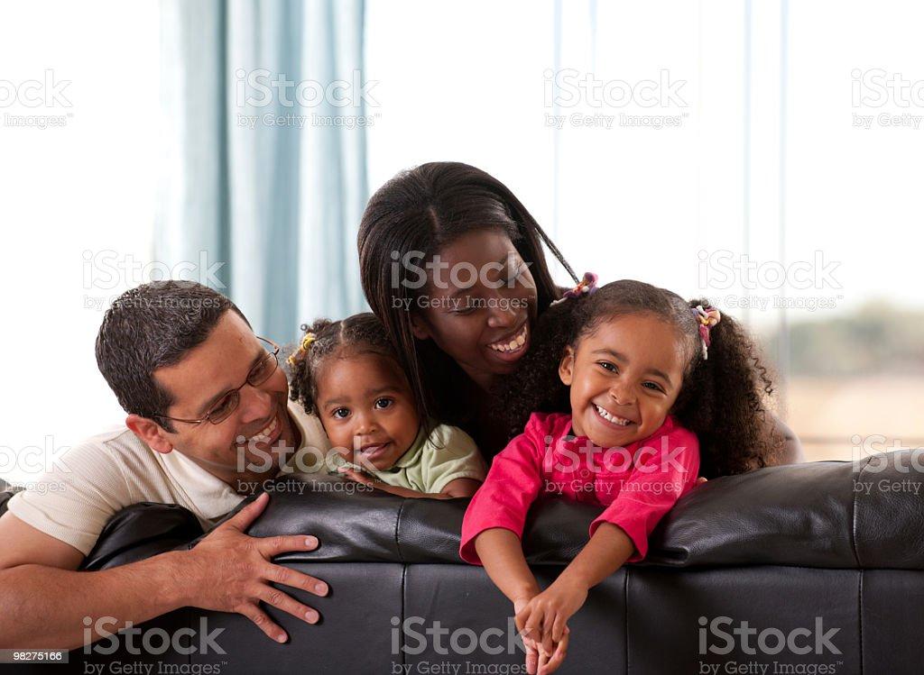 Mixed family royalty-free stock photo