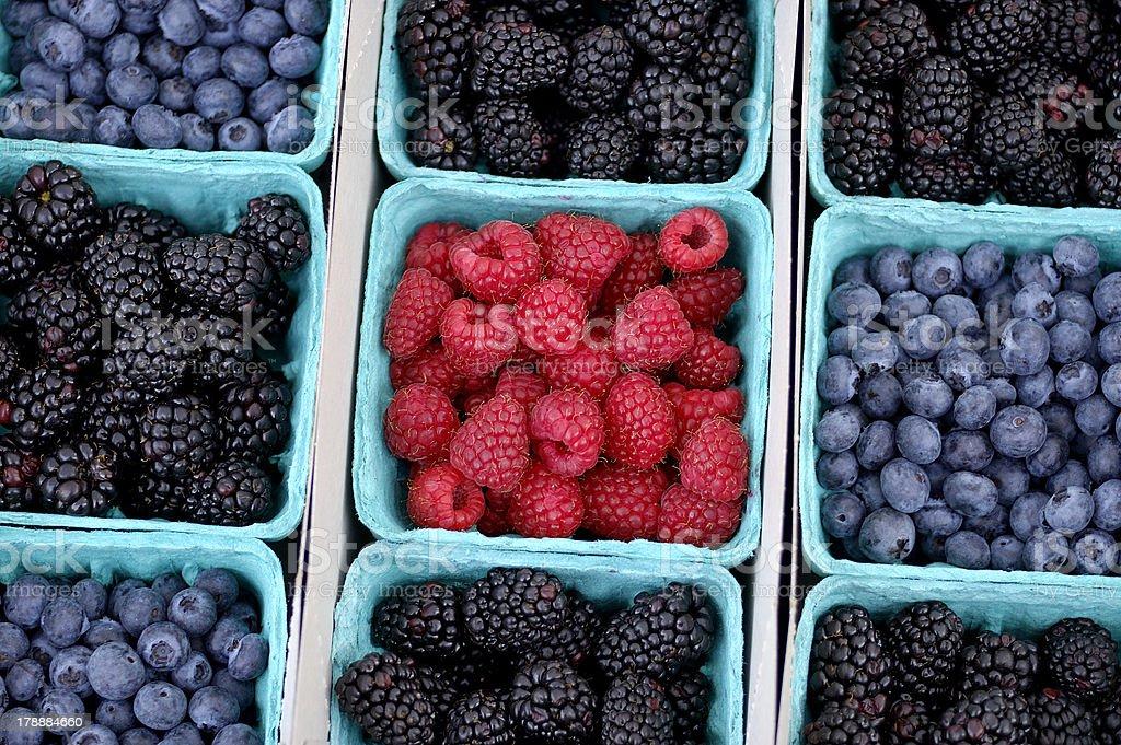 Mixed Fresh Berries royalty-free stock photo