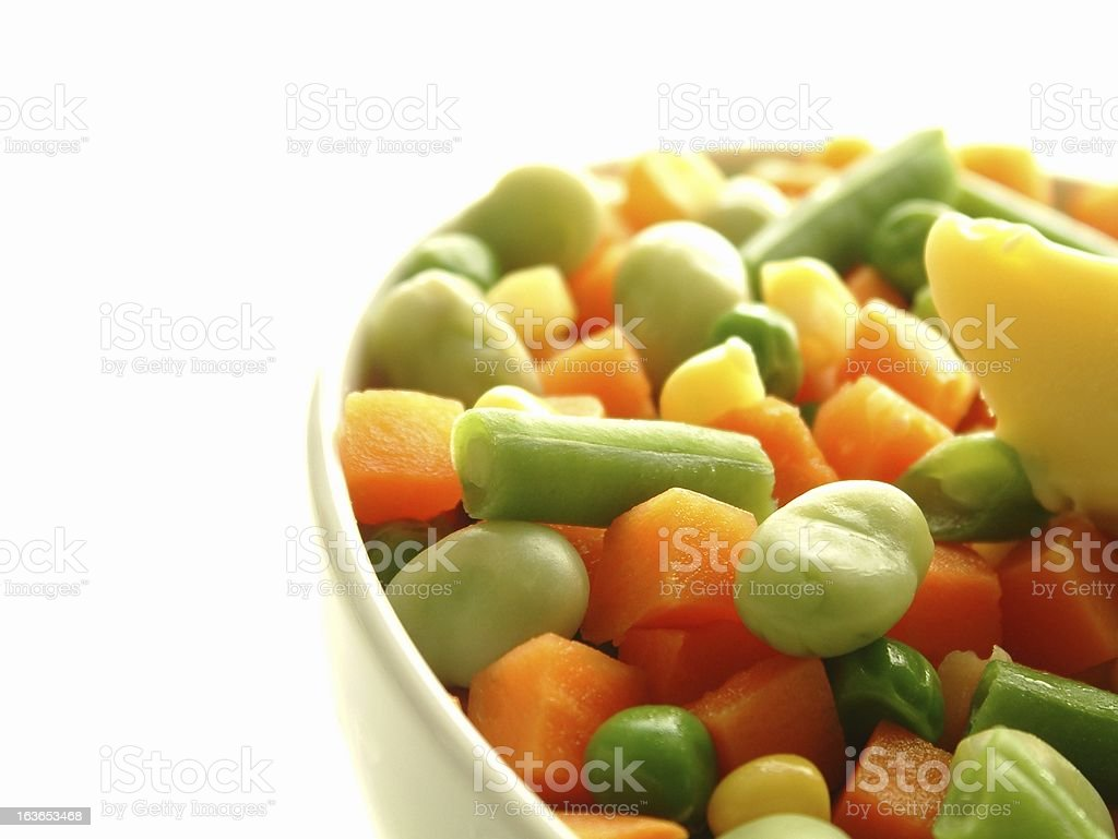 mixed frozen vegetables in bowl royalty-free stock photo
