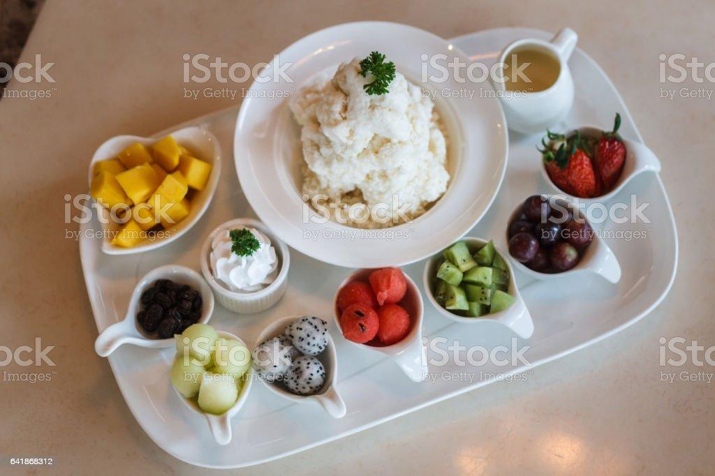 Mixed Fruit Ice Cream Bingsu Korean Dessert Stockfoto Und Mehr