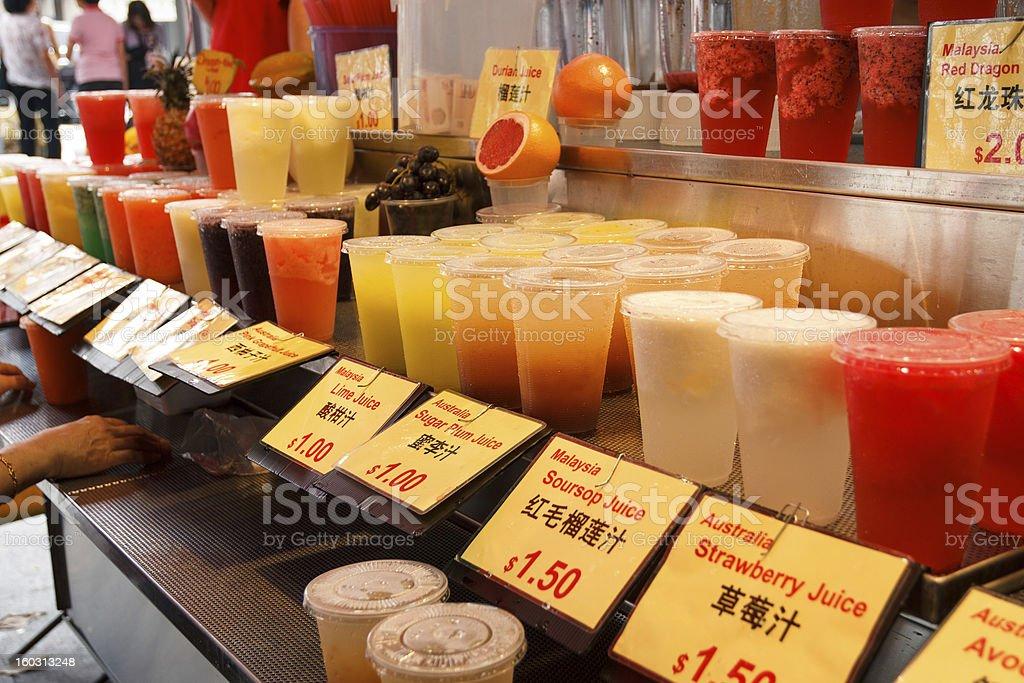 Mixed Fruit juices royalty-free stock photo