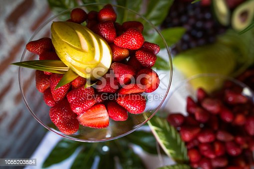 Fruit Salad Served In Plate On Table