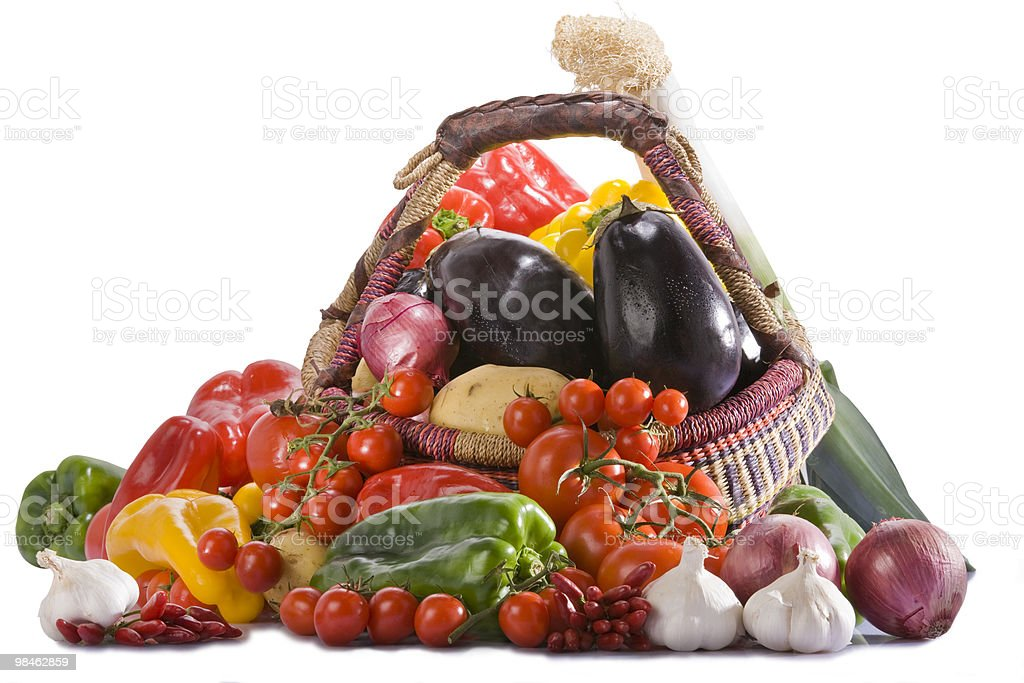 mixed fruits and vegetables royalty-free stock photo