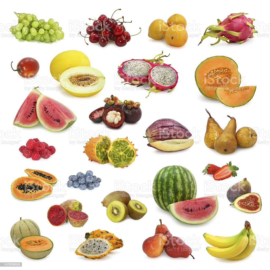 mixed fruits collection royalty-free stock photo