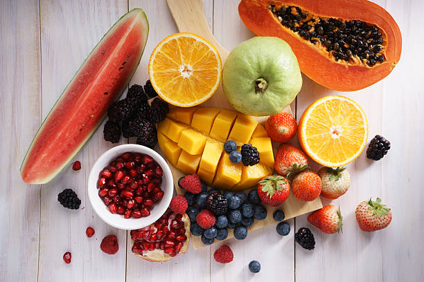 camilan buah-buahan campuran - fruits potret stok, foto, & gambar bebas royalti
