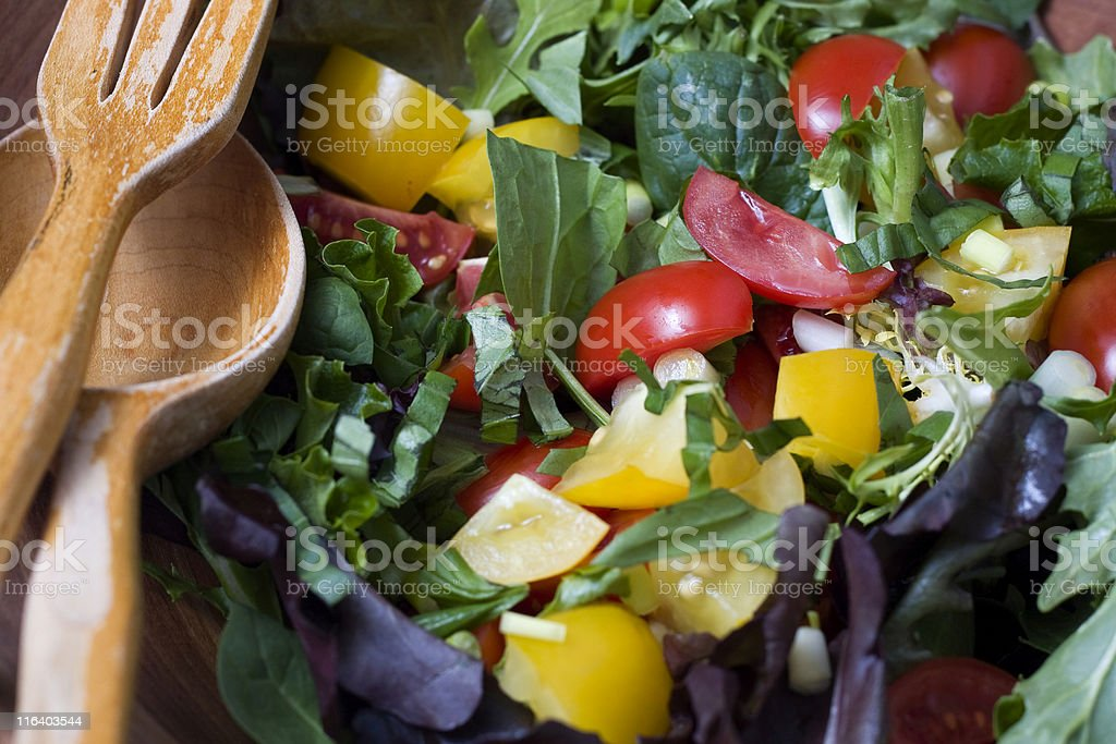 Mixed Green Salad stock photo