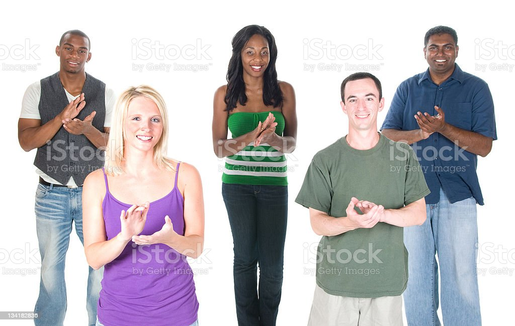 Mixed Group Applauding royalty-free stock photo