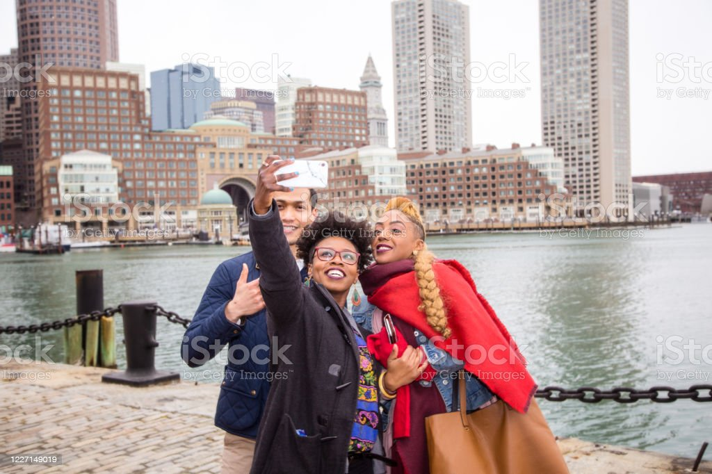 Gemengde groep mensen in Boston - Royalty-free Afro-Amerikaanse etniciteit Stockfoto