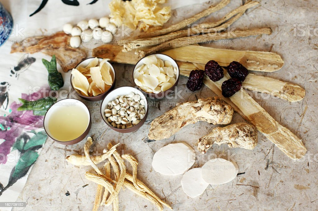 Mixed Herbal Medicine stock photo
