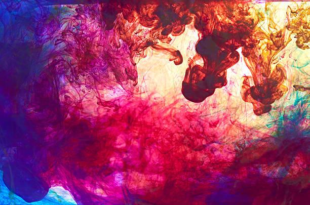 gemischte ink - lila palette stock-fotos und bilder