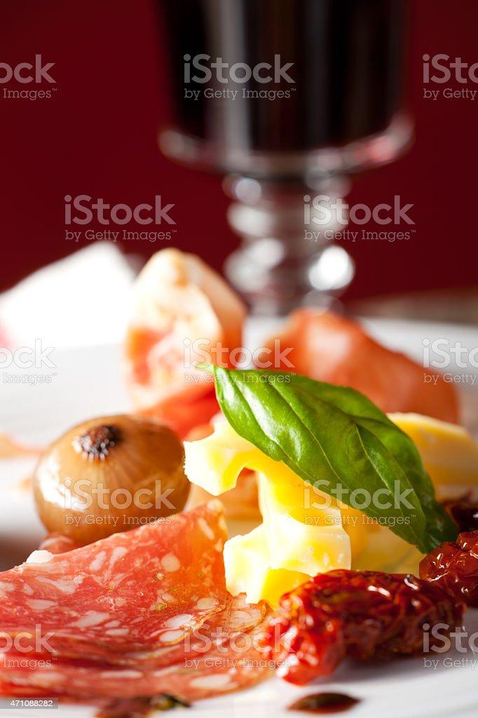 mixed italian antipasti stock photo