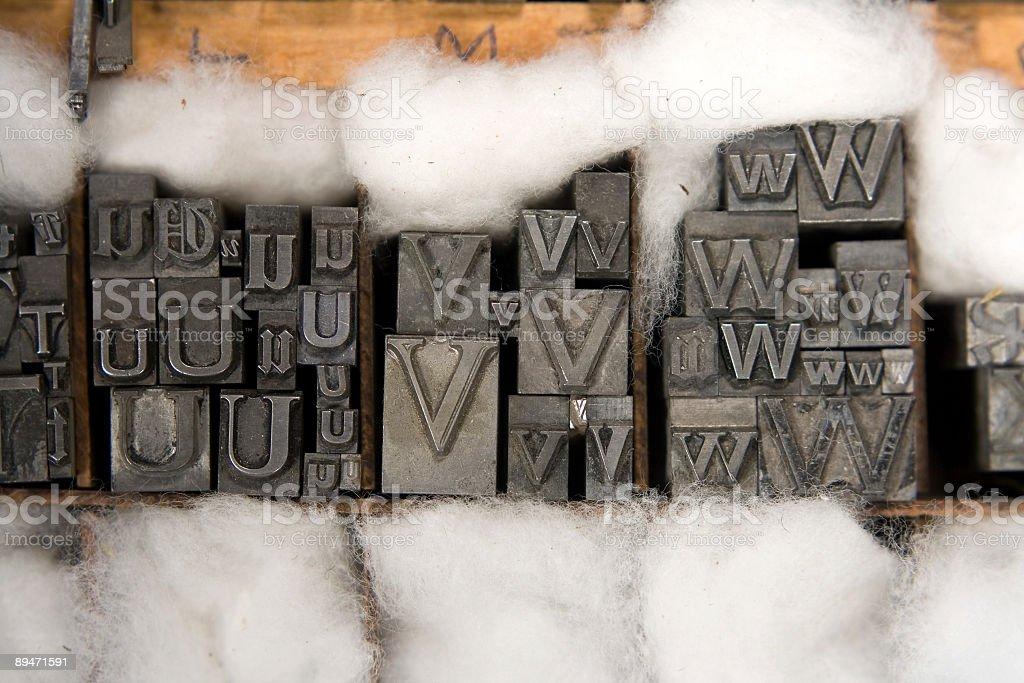 Mixed Letterpress Type Blocks royalty-free stock photo