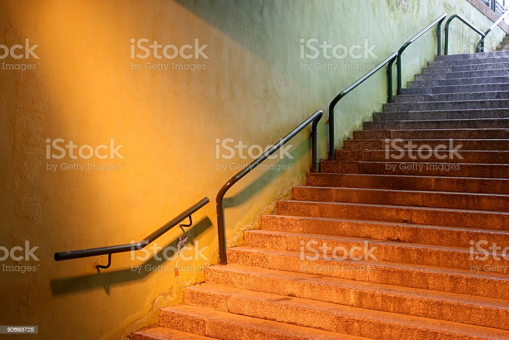 mixed lights on stair royalty-free stock photo