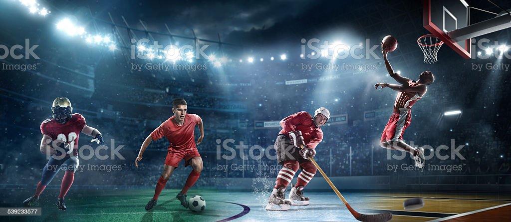 Mixed main sports stock photo