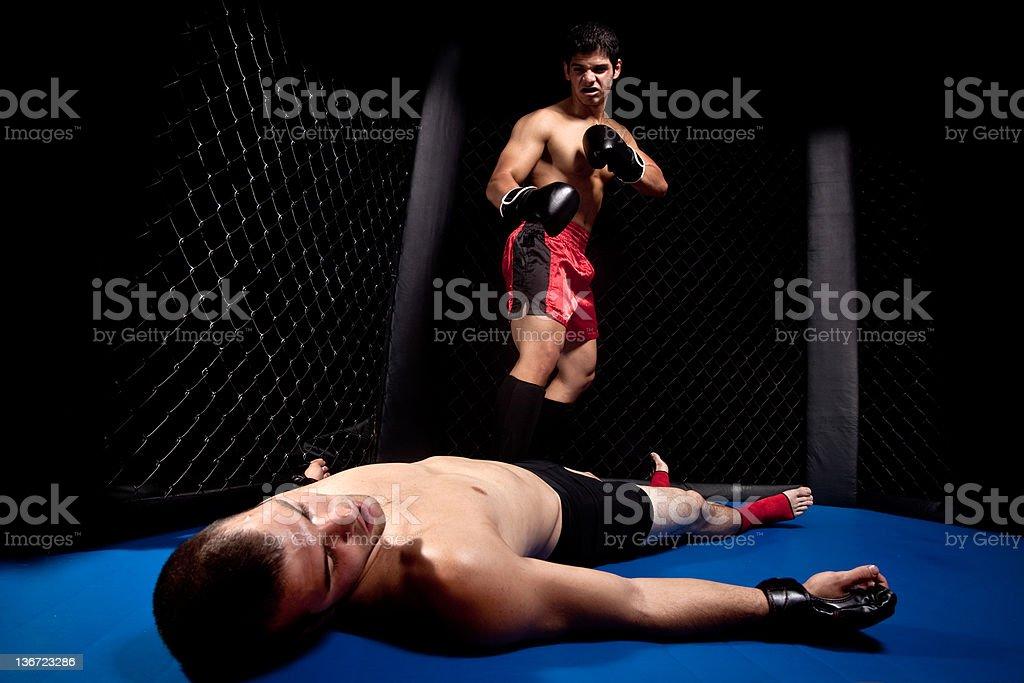 Mixed martial Künstler kämpfen-knock out – Foto