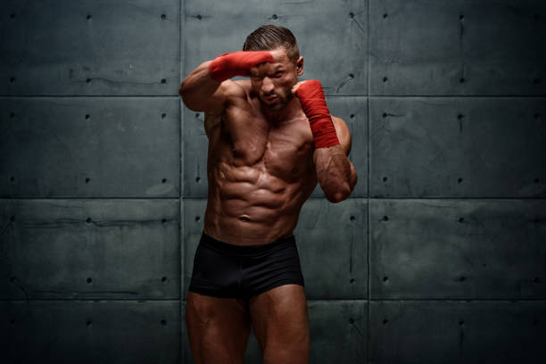 Mixed Martial Arts Fighter, MMA stock photo