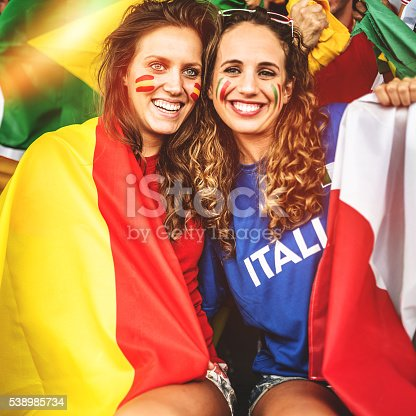 537894724 istock photo mixed national world supporter at the soccer stadium 538985734