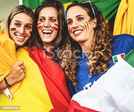 537894724 istock photo mixed national world supporter at the soccer stadium 538985848
