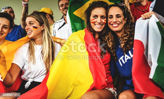 537894724 istock photo mixed national world supporter at the soccer stadium 538987412