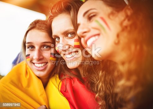 537894724 istock photo mixed national world supporter at the soccer stadium 538997940