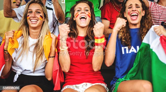537894724 istock photo mixed national world supporter at the soccer stadium 538998086