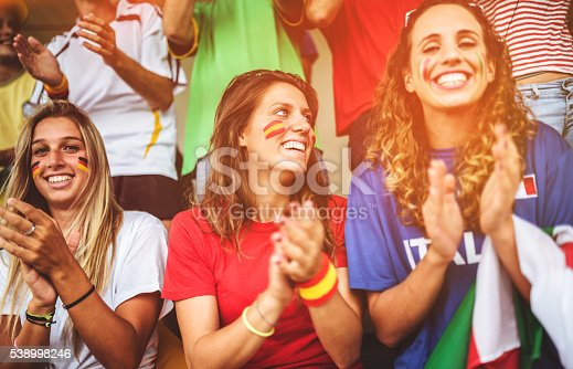 537894724 istock photo mixed national world supporter at the soccer stadium 538998246