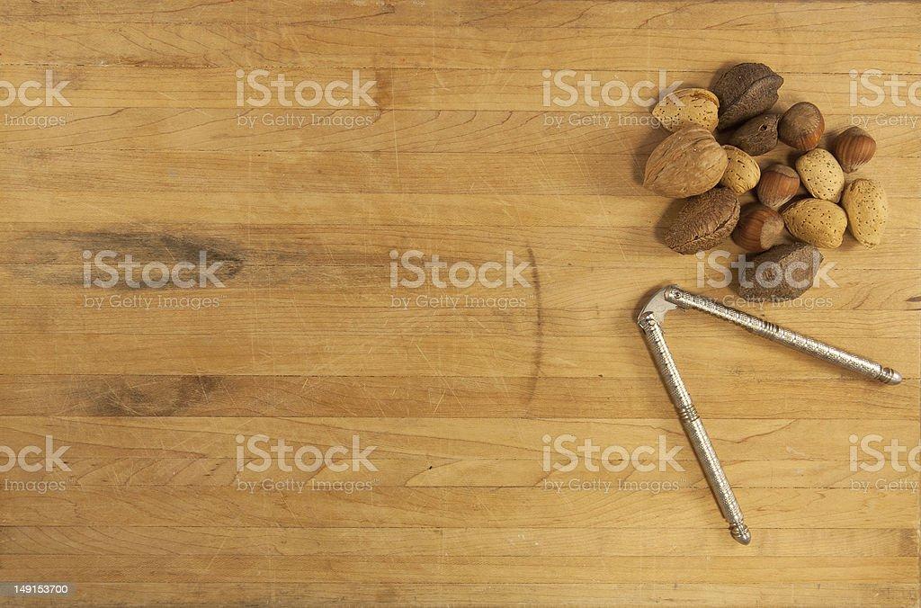 Mixed Nuts and Nutcracker royalty-free stock photo