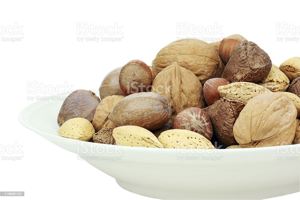 Mixed Nuts in the Shells royalty-free stock photo