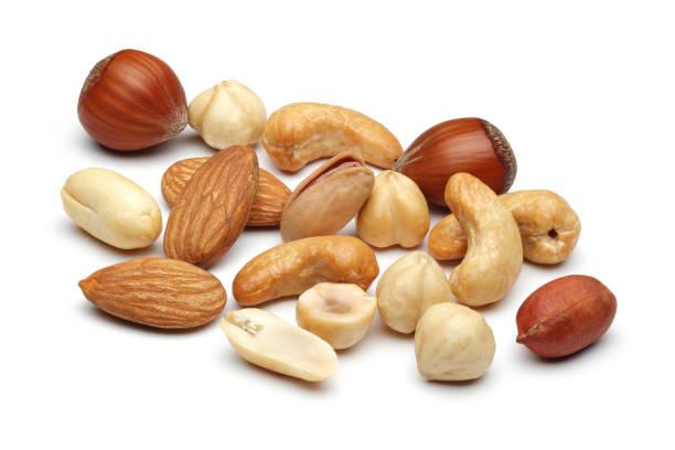 mixed nuts - frutos secos imagens e fotografias de stock