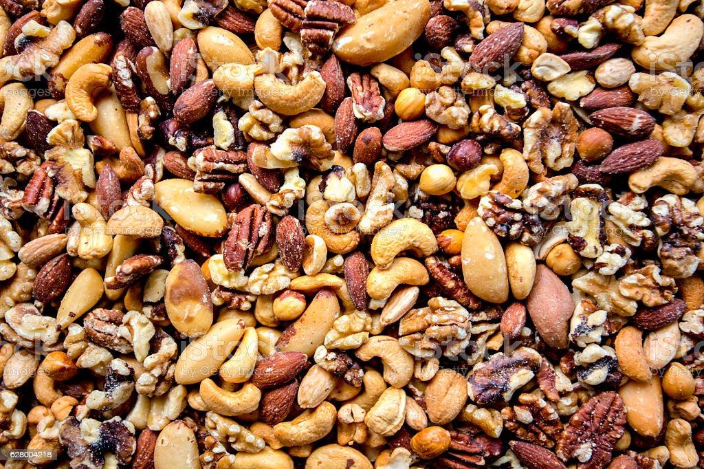Mezcla de frutos secos  - foto de stock