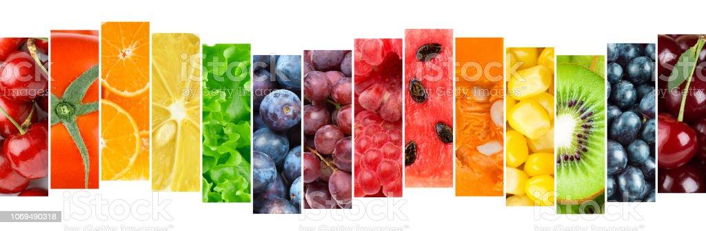 Gemischte Farbe Obst und Gemüse – Foto