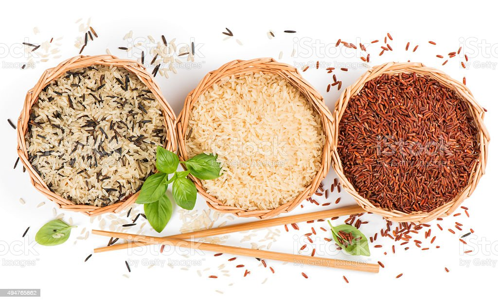 Mixed of rice, view from above stock photo