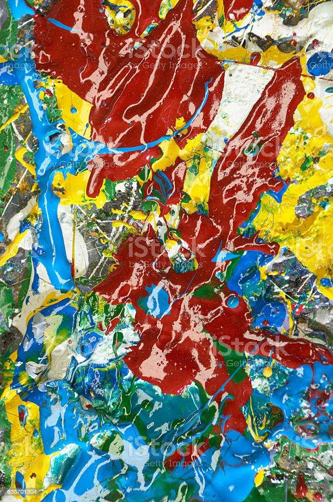 mixed oil colors, abstract background royalty-free stock photo