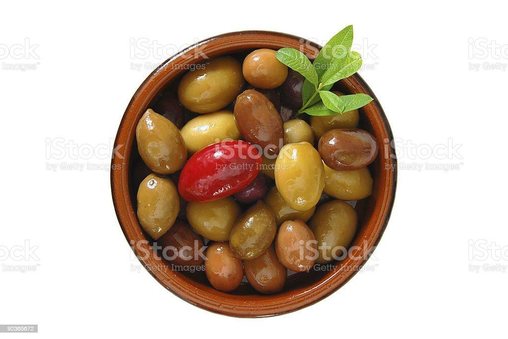 Mixed Olives royalty-free stock photo