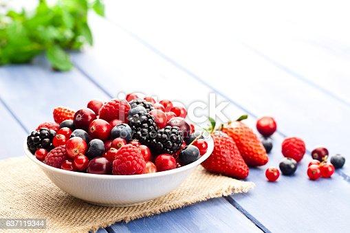 istock Mixed organic berries 637119344